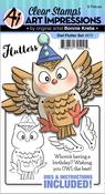 Owl - Art Impressions Flutters Stamp & Die Set