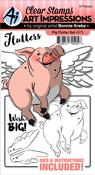 Pig - Art Impressions Flutters Stamp & Die Set