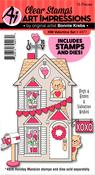 Valentine - Art Impressions Holiday Mansion Stamp & Die Set