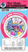 Birthday - Art Impressions Circlet Mini TryFolds Stamp & Die Set
