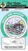 Cabin - Art Impressions Circlet Mini TryFolds Stamp & Die Set