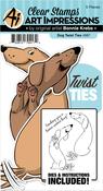 Dog - Art Impressions Twist Ties Stamp & Die Set