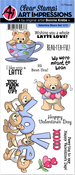 Valentines Bears - Art Impressions Valentines Clear Stamps