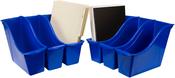 """Blue - Storex Small Book Bin 11.75""""X4.5""""X8.5"""""""