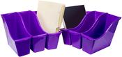 """Purple - Storex Small Book Bin 11.75""""X4.5""""X8.5"""""""