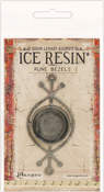 Antique Silver - Ice Resin Rune Bezel Round