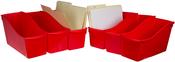 "Red - Storex Large Book Bin 14.3""X5.3""X7"""