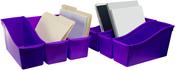 "Purple - Storex Large Book Bin 14.3""X5.3""X7"""