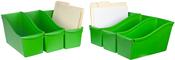 """Green - Storex Large Book Bin 14.3""""X5.3""""X7"""""""