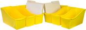 "Yellow - Storex Large Book Bin 14.3""X5.3""X7"""