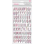 Charming Alpha Printed Chipboard - Wild Heart - Crate Paper - PRE ORDER
