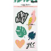 Wild Heart Embossed Puffy Sticker - Crate Paper