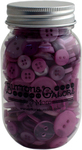Sour Grapes - Buttons Galore Button Mason Jars
