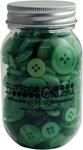 Greenery - Buttons Galore Button Mason Jars
