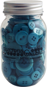 Bali Blue - Buttons Galore Button Mason Jars