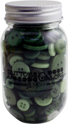 Leafy Green - Buttons Galore Button Mason Jars