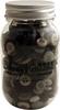 Smokey Greys - Buttons Galore Button Mason Jars