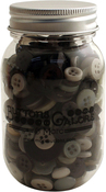 Smokey Greys - Buttons Galore Button Mason Jars
