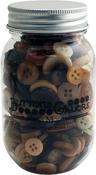 Warm Cocoa - Buttons Galore Button Mason Jars