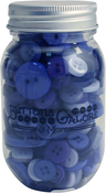 Periwinkle - Buttons Galore Button Mason Jars