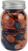 Halloween - Buttons Galore Button Mason Jars