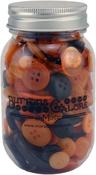 Halloween - Buttons Galore Button Mason Jars