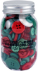 Christmas - Buttons Galore Button Mason Jars