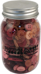 Valentine - Buttons Galore Button Mason Jars