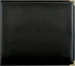 "Black - Kaisercraft Leather D-Ring Album 12""X12"""