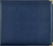 "Navy - Kaisercraft Leather D-Ring Album 12""X12"""