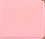 "Pink - Kaisercraft Leather D-Ring Album 12""X12"""