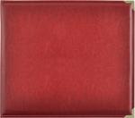 "Deep Red - Kaisercraft Leather D-Ring Album 12""X12"""