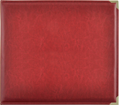 "Deep Red - Kaisercraft Leather D-Ring Album 12""X12"""