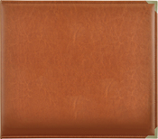 "Tan - Kaisercraft Leather D-Ring Album 12""X12"""