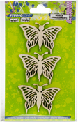 Butterflies - Studio Light Mixed Media Wooden Laser Ornaments