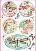Wonderland Fantasy Decorations - Stamperia Rice Paper Sheet A4