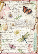 Dragonflies & Butterflies - Stamperia Rice Paper Sheet A4