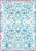 Blue Arabesque - Stamperia Rice Paper Sheet A4