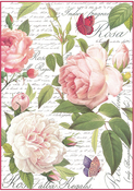 Vintage Rose - Stamperia Rice Paper Sheet A4