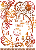 """Take Your Time - Stamperia Stencil G 8.27""""X11.69"""""""