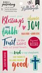 "Blessing - American Crafts Bible Journaling Rub-On Sheet 4""X6.5"""