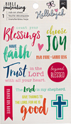 "Blessing - American Crafts Bible Journaling Rub-On Sheet 4""X6.5"""