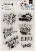 God With Us - American Crafts Bible Journaling Clear Acrylic Stamps