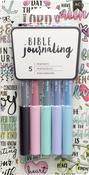 Pastels - American Crafts Bible Journaling Precision Pens 5/Pkg