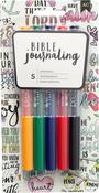 Primaries - American Crafts Bible Journaling Precision Pens 5/Pkg