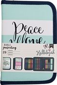 "Peace, Love, Happiness - American Crafts Bible Journaling Pen Pouch 5.5""X8"""