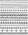 """Ornate Trims - Tim Holtz Cling Stamps 7""""X8.5"""""""