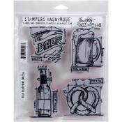"Beer Blueprint - Tim Holtz Cling Stamps 7""X8.5"""