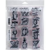 "Mini Blueprints - Tim Holtz Cling Stamps 7""X8.5"""