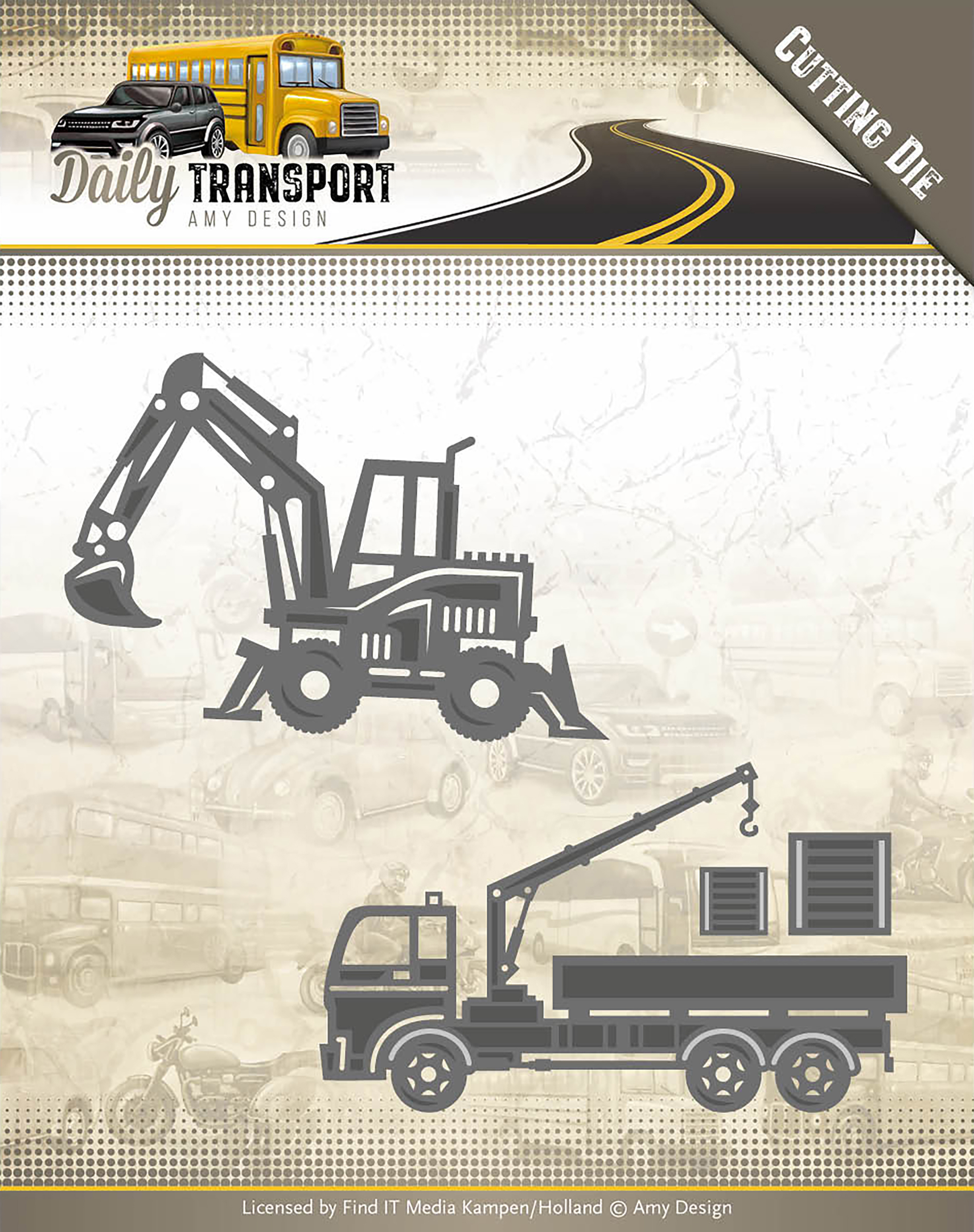 Construction Vehicles - Find It Trading Amy Design Daily Transport Die